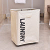 Portable Single Lattice Laundry Basket Dirty Clothes Storage Basket With Wheel - Dropshipper US
