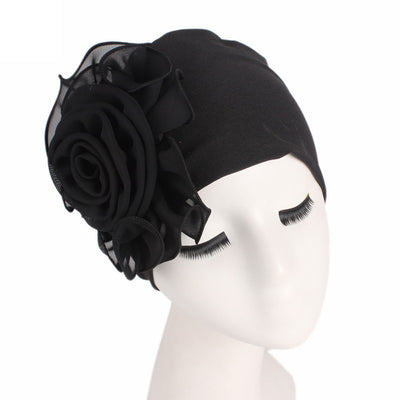 Women's Hats Ladies bonnet femme Retro Big Flowers Hat Turban Brim Hat Cap Pile Cap elastic women's hats - Dropshipper US