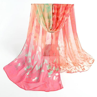Feitong Quality Scarves For Women Design Printed Silk Soft Silk Chiffon Poncho Soft Casual Snud Shawl Wrap Wraps Scarf Scarves - Dropshipper US