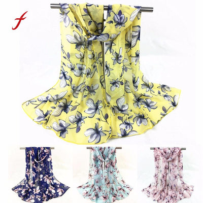Feitong Quality Fashion Poncho Women Scarves Winter Snud Printed Long Soft Scarf Wrap Bandana Shawl Stole Pashmina Scarves - Dropshipper US
