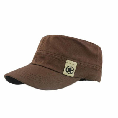 Men Baseball Caps Solid Color Cotton Flat Roof Qualited Hat Cadet Patrol Bush Hat Baseball Field Cap Gorros Para Os Homens #7125 - Dropshipper US