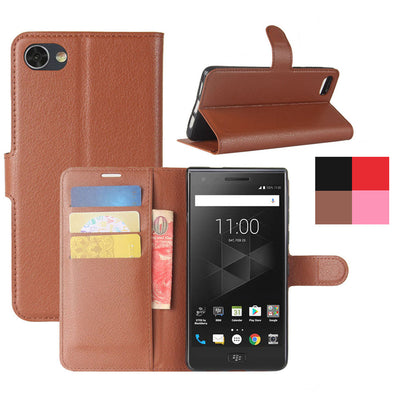 "Luxury PU Leather Wallet Flip Case For BlackBerry Motion With Card Slot Holder Back Kickstand Cover For BlackBerry Motion 5.5"" - Dropshipper US"