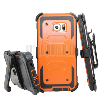 Heavy Dury Hybird Impact Shockproof Armor Stand Hard Case Cover+Holster With Belt Clip For Samsung Galaxy S6 Edge Plus G928 - Dropshipper US
