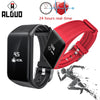 ALANGDUO Smart Bracelet 24 Hours Real-time Heart Rate monitor Fitness Watch IP68 Waterproof Sports Bluetooth Tracker Wristband - Dropshipper US