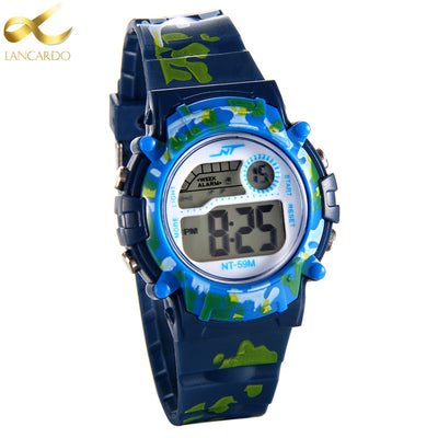 2017 Luxury Brand Lancardo LED Digital Watch Men Waterproof Sports Military Watches Shock Children Analog Digital-watch Relogio - Dropshipper US