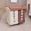 Home Organization Portable Double Lattice Foldable Laundry Basket Dirty Clothes Storage Basket For Toys
