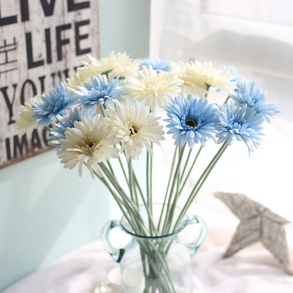5 Bouquet Artificial Flowers Silk Sunflower Wedding Home Decoration