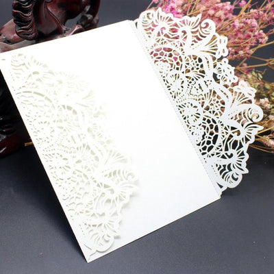 10Pcs Wedding Invitation Card Kit with Envelopes Seals Personalized Printing Invitacion A Cielo Abierto #GB0 - Dropshipper US