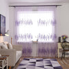 Lavender Embroidery Elegant Curtain Translucent Polyester Home Decoration Door Kitchen Decor Window Curtains Bedroom ev aksesuar - Dropshipper US