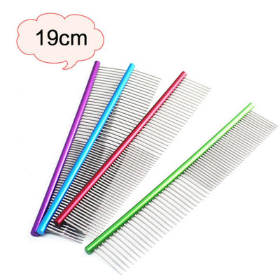 19cm High Quality Pet Comb Professional Steel Grooming Comb Cleaning Brush Drop Ship - Dropshipper US