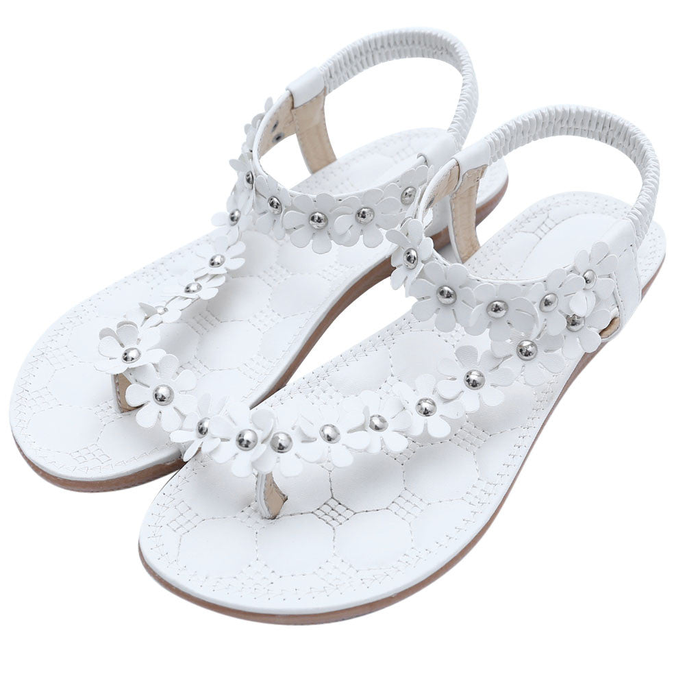 8606177089d32 Summer Women s Sandals Bohemia Sweet Beaded Sandals Clip Toe Sandals Beach  Shoes Ladies Shoe Fashion Female