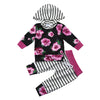 MUQGEW 2pcs Baby Girl Clothes Set Floral Print Hoodie Tops+Pants Outfits Infant Clothing Cheap Roupa Infantil QZ06 - Dropshipper US