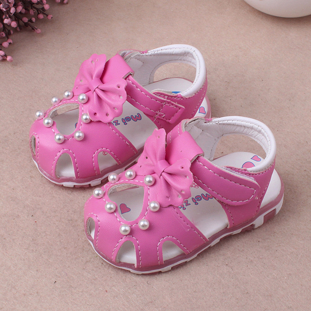 Useful Children Girl Fashion Princess Bowknot Dance Toddler Sandals Upper Quality Shoes New Arrival Dropshipping Pearl