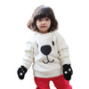 2018 Winter Warm Fleece Thicken Baby Sweatshirts Infant Cute Cartoon Animal Bear Kids Pullover Long Sleeve Tops Toddler Blouse - Dropshipper US
