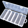 High Quality 21*11*3.5cm Fishing Lure Box Accessories Hard Soft Lure Bait Fishing Tackle Box 5 Compartments #E0 - Dropshipper US
