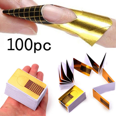 100 Pcs / 200 Pcs  Professional Nail Forms Acrylic Nails Gel Nails Extension Nail Sticker #75 - Dropshipper US