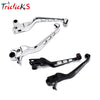 Triclicks Motorcycle Brake Handle Lever Aluminum Skull Brake Clutch Levers For Harley Sportster XL883 XL1200 Dyna Softail 96-10 - Dropshipper US