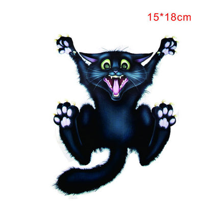 2018 Hot sale New car sticker 18*15cm Halloween Car Wall Home Black Cat Sticker Mural Decor Decal Removable Terror Dropshipping - Dropshipper US