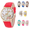 women watches Fashion Flowers Watches Sport Analog Quartz Wrist Watch  women quartz watch wristwatch dignity M.1