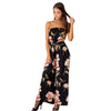 Boho floral print sexy women jumpsuits romper Off shoulder casual jumpsuit 2018 Loose vintage summer jumpsuit overalls playsuit