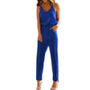 2018 Casual Rompers Womens Jumpsuits Sleeveless V Neck Pocket Playsuit Bodycon Solid Overalls Retro Strapless Playsuits