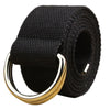 2018 hot belt men and women canvas unisex students lovers waistband Double loop belts for women ceinture homme gift