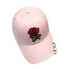 Women Snapback hat 2018 baseball cap with rings Embroidery Rose casquette de baseball women hats cotton for summe gorras#EWU