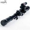 Ship From Us&cn Black 4X20 + Laser Light Riflescope Red Dot Combination Set Hunting Gun Accessories Button Battery Not Include