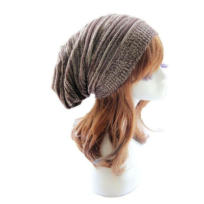 Soft Rabbit Double Knitting Thick Bonnet Beanie Caps Solid Warm Winter Hats For Womens Cap Skullies Beanies Female Hat B / United States
