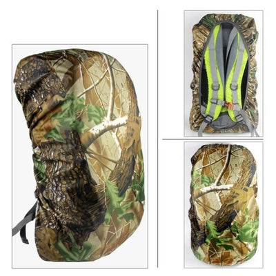 Various Sizes Waterproof Camo Rain Cover Dustproof Travel Hiking Backpack Outdoor Camping Rucksack Bag Cover 45L / United States Sports Bags