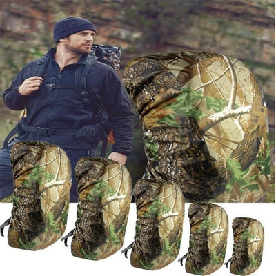 Various Sizes Waterproof Camo Rain Cover Dustproof Travel Hiking Backpack Outdoor Camping Rucksack Bag Cover 60L / United States Sports Bags