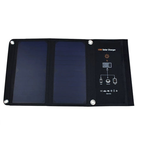 15W Portable Waterproof Solar Charger