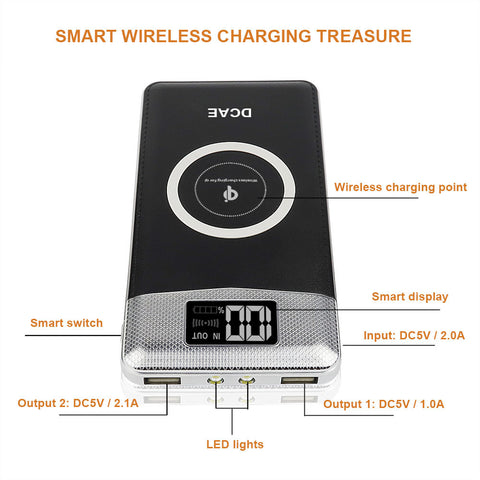 2 in 1 Wireless Charger with Power Bank
