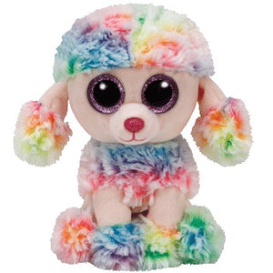 TY Beanie Boo Rainbow Poodle Dog Soft Toy Teddy