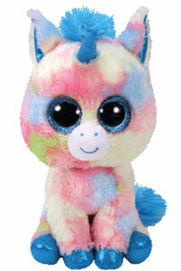 TY Beanie Boo Rainbow Blitz Unicorn Soft Toy Teddy