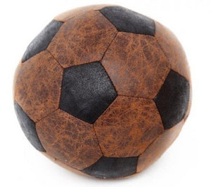 Faux Leather Brown Vintage Classic Style Football Doorstop
