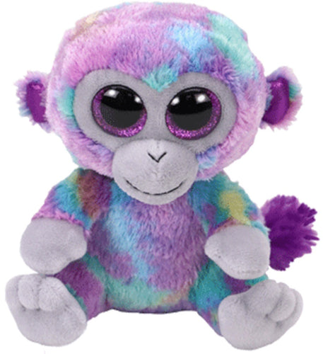 TY Beanie Boo Rainbow Zuri Monkey Soft Toy Teddy