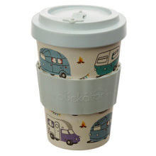 Camper Van Caravan Print Eco Friendly Bamboo Travel Mug Cup