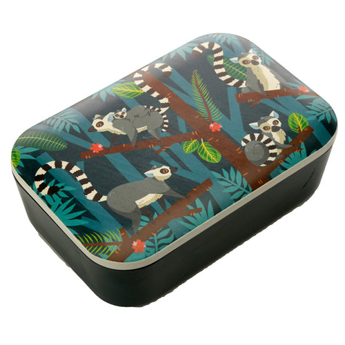 Lemur Tropical Jungle Print Eco Friendly Bamboo Lunch Box