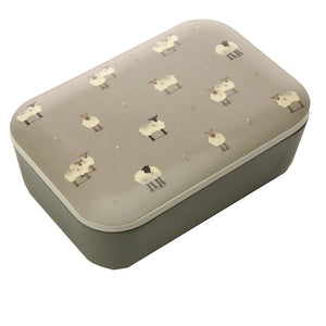 Grey Farm Animal Sheep Print Eco Friendly Bamboo Lunch Box