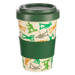 Green Army Soldier Print Eco Friendly Bamboo Kids Or Adults Travel Mug Cup
