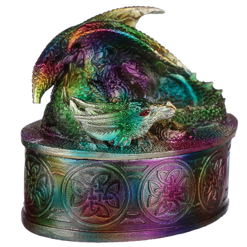 Dragon Metallic Rainbow Effect Trinket Storage Box