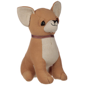 Chihuahua Dog Plush Sand Filled Doorstop