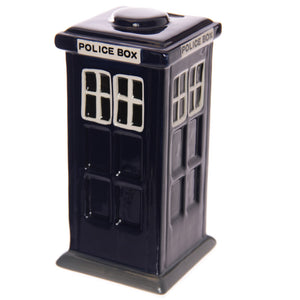 Blue Classic London Police Box Money Bank