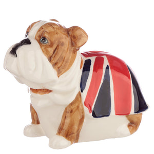 British Bulldog Union Jack Dog Breed Money Bank