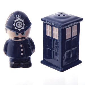 London Police Man & Box Figurine Salt & Pepper Cruet Set
