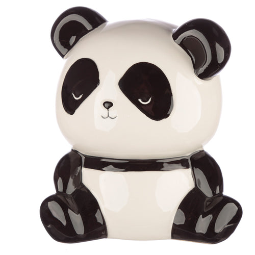 Black & White Panda Bear Money Bank