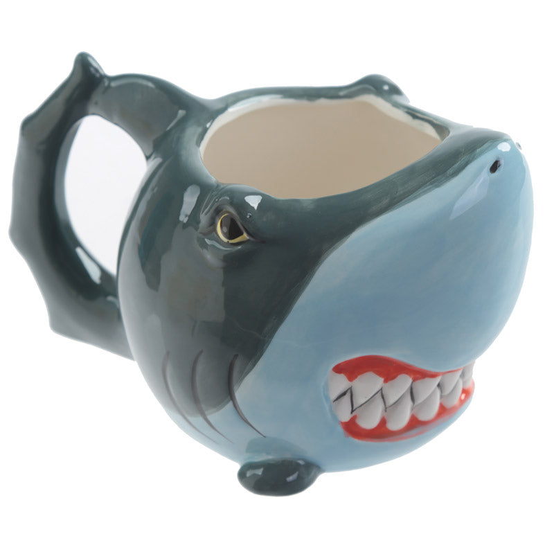 Blue Shark Fish 3D Head Shaped Mug