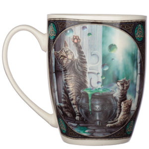 Fantasy Cat & Cauldron Print Porcelain Mug