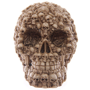 Gothic Skull Bust With Multiple Skulls Figurine